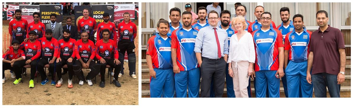 OH Parsons attended the Penny Appeal Charity Cricket match at Slough Cricket Club to raise funds for the Rohingya Emergency Appeal